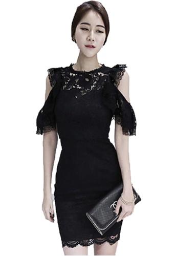 Sunnydaysweety black Lace Slim One-piece Dress UA0505461 E362BAA734428FGS_1
