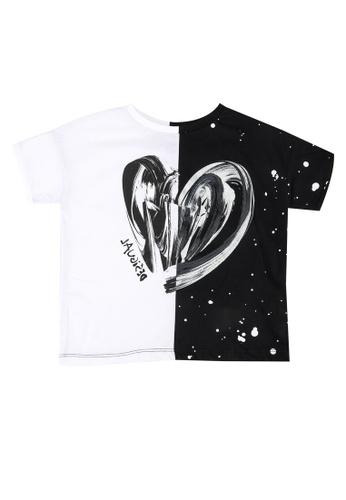 Desigual white Contrast Heart T-Shirt 38EA1KA643D9CDGS_1