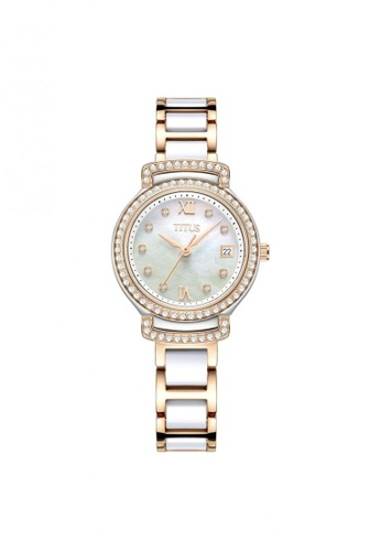 Solvil et Titus gold Fair Lady Women's 3 Hands Date Quartz in White Mother of Pearl Dial and Two-Tone Stainless Steel Bracelet 19C0FAC47CBBBCGS_1