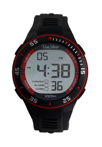 UniSilver TIME black Charlie Suteliffe Rubber Watch KW1808-1003 UN802AC25BHAPH_1