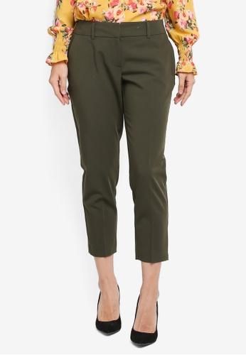 Dorothy Perkins green Petite Naples Ankle Grazer Pants 68F00AA8D12602GS_1