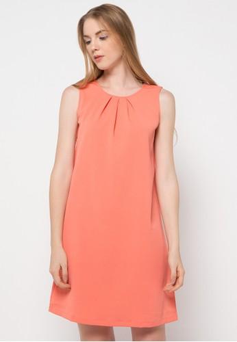WHITEMODE orange Averie Dress WH193AA46UOBID_1