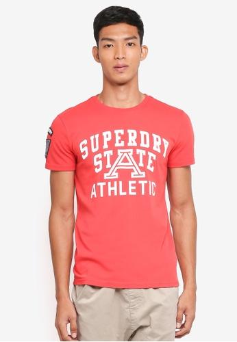 Superdry 紅色 短袖印花T恤 F41C7AA901EDD9GS_1