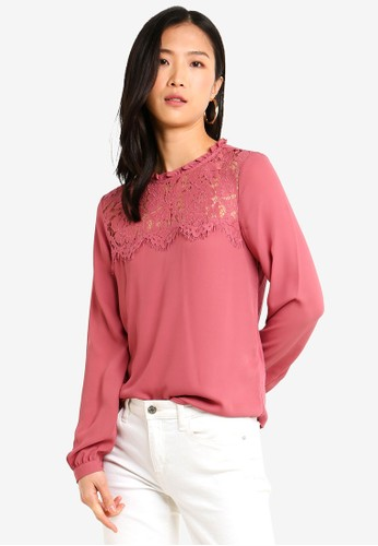 Forever New pink Long Sleeve Denise Top 6D730AA3A00E0DGS_1