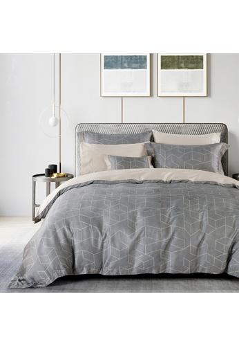 Epitex grey Cressent Dale 1600TC 100% Tencel CE2806 Bedset 24413HL99BE556GS_1
