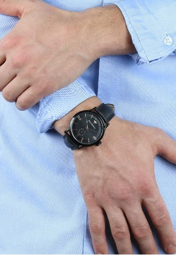 17f7b1dae346 Buy Maserati Epoca Quartz Watch R8851118004 Black Leather Strap + Blue PVD  Stainless Steel Bracelet JM08 Online on ZALORA Singapore