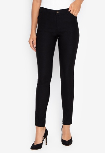 Well Suited black Chic Skinny Cigarette Trousers 348A0AAE245E61GS_1