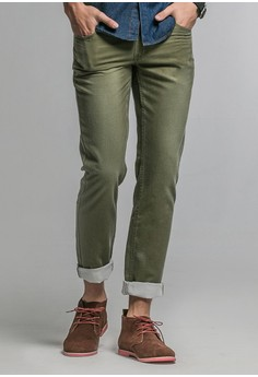 Wash Out Slim Fit Trousers