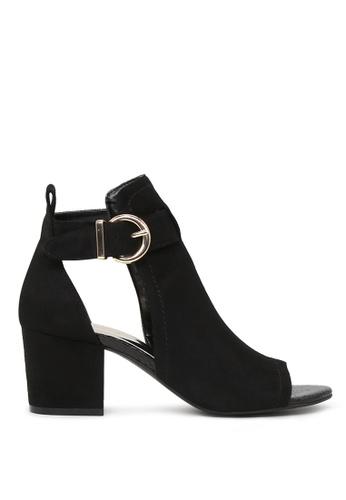 London Rag black Sonya Peep Toe Ankle Strap Sandals A7CCASHA36B8A2GS_1