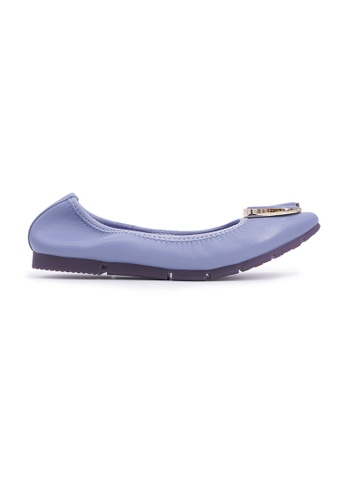 Flatss & Heelss by Rad Russel purple Square-toe Flats with Buckle - Grey 2480CSH13C0B2BGS_1
