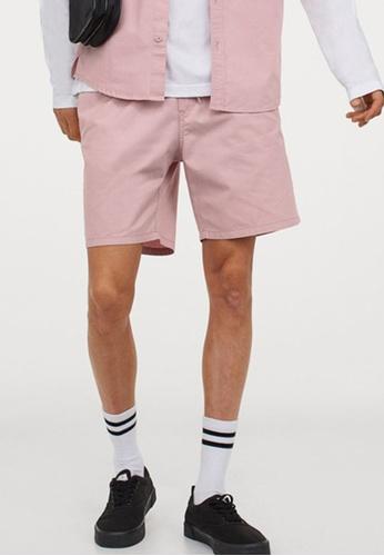 H&M pink Knee-Length Shorts 8EBEDAA0A86A64GS_1