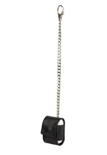 Starke Leather Co black STARKE's Bop Roe AirPods Leather Case Medium Chain Black 563EBACC68857EGS_1