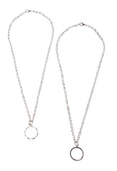 Classic Ring Pendant Couple Necklace