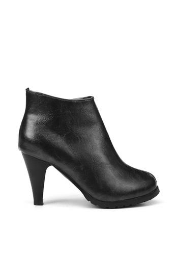KissXXX black Classic Black High Heel Boots KI688SH2VN1KHK_1