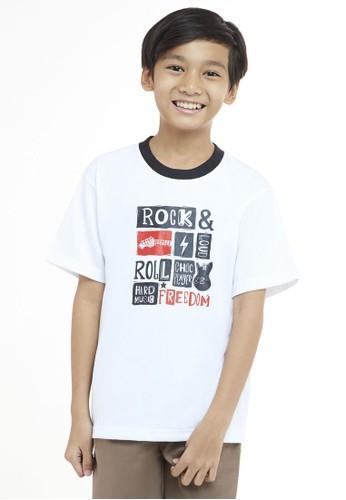 YEGE white Yege T'shirt Junior Hitam Putih 51E13KA9C717D6GS_1