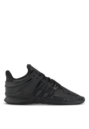 adidas black adidas originals eqt support adv AD372SH0SEA3MY_1