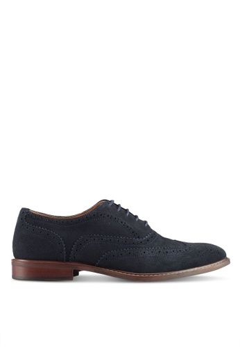 River Island blue and navy Suede Oxford Brogues 32502SH781073CGS_1