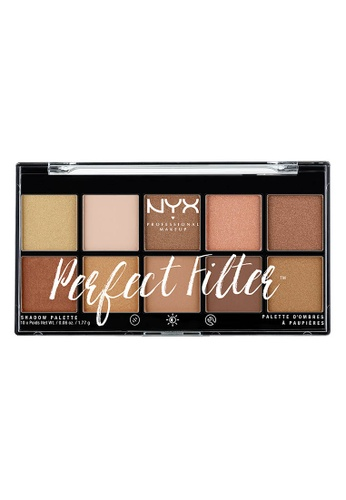 NYX Professional Makeup multi NYX Professional Makeup Perfect Filter Shadow Palette- GOLDEN HOUR 8D90ABE224AC81GS_1