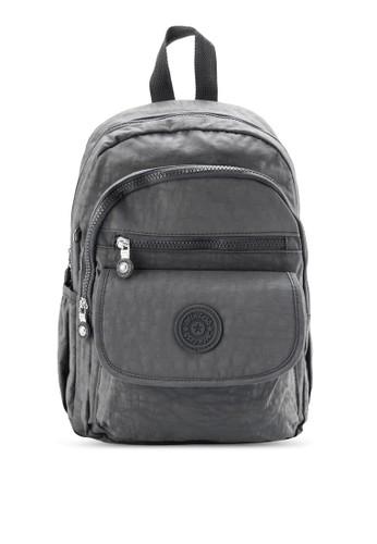 BAGSTATIONZ MDS 尼龍布zalora時尚購物網評價料波紋小型後背包, 包, 後背包