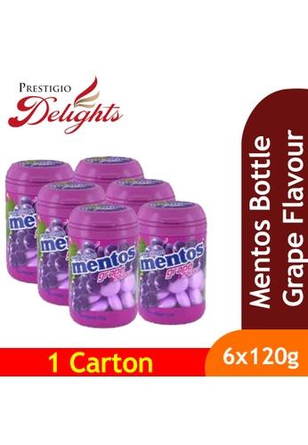 Prestigio Delights black Mentos Bottle Grape Flavours 120g x 6s CB9EBESBC2604BGS_1