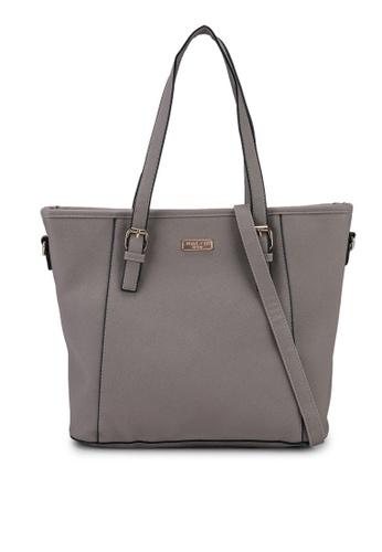 Unisa grey Saffiano Convertible Tote Bag A2540AC6D9646BGS_1