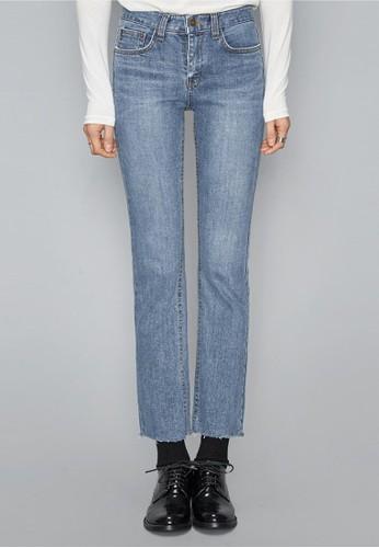 淺藍直筒加絨牛仔褲, 服飾, 多色牛esprit 鞋仔褲