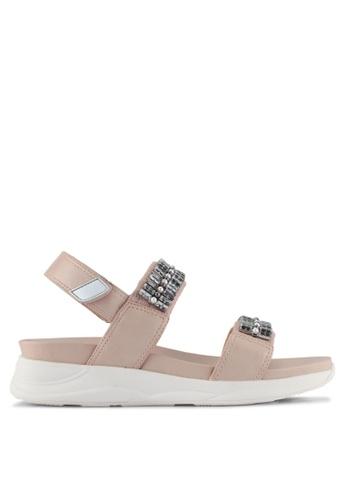 ALDO pink Eloima Flat Sandals 57FE1SHFD54546GS_1