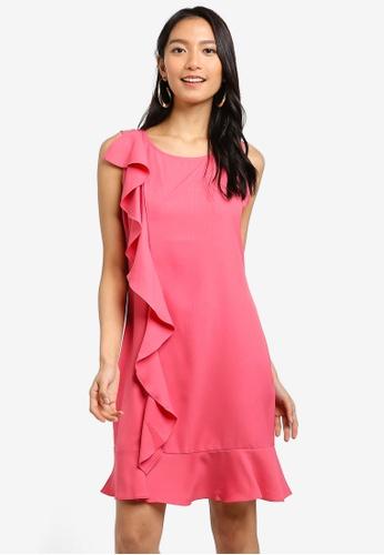ZALORA 粉紅色 Ruffles Drop Hem Dress 680EDAA1B8B081GS_1