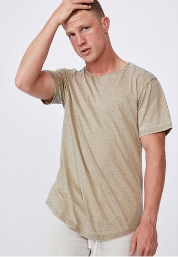 Cotton On green Longline Scoop Burnout T-Shirt 1D347AA6048826GS_1