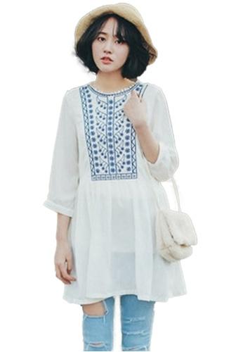 Sunnydaysweety white White Embroidery Mini One Piece Dress K20041813 986EEAAED4156EGS_1
