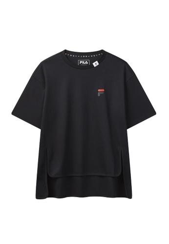 FILA navy FILA × Maison MIHARA YASUHIRO F Logo Dropped Shoulders Cotton T-shirt 68C79AA58DCF31GS_1