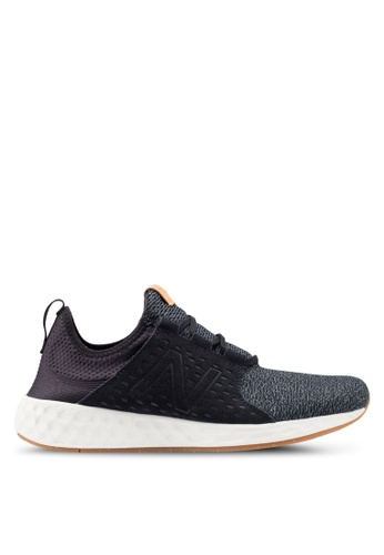 New Balance black Cruz Future Sport Shoes 22DCCSHE10699DGS_1