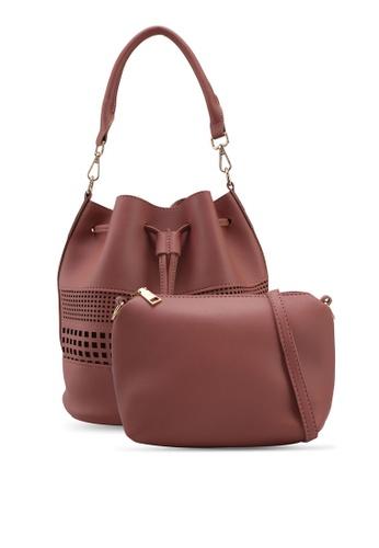 Unisa pink Perforated Facile Bucket Bag Set 17BA1AC08900F1GS_1