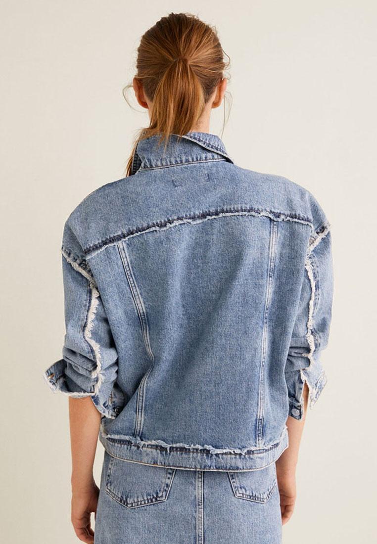 Frayed Blue Edges Mango Jacket Open q07fwxz6v