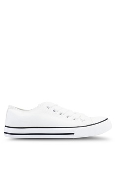500cecdecd0 Dorothy Perkins white White Icon Canvas Trainers 2ADFCSH05EC8E3GS 1