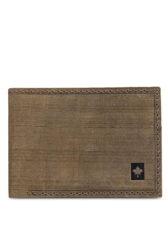 Lumberjesprit台北門市acks 暗紋對折皮夾, 飾品配件, 皮革