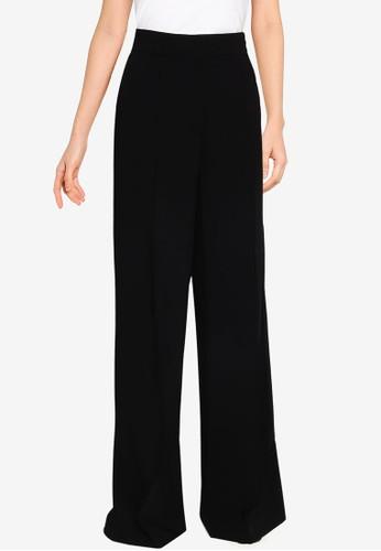 Mango black Dart Palazzo Trousers E95ADAA1782B0EGS_1