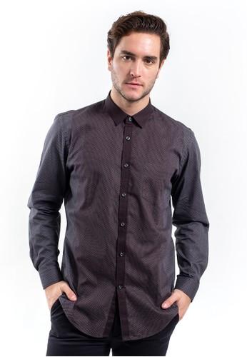 MANLY black MANLY Fridman Black Regular Fit Striped Shirt Long Sleeve A18BFAADE37326GS_1