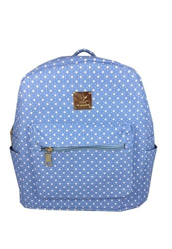 TCWK blue TCWK Korea Style Light Blue Backpack F5ADEAC7DB8DA8GS_1