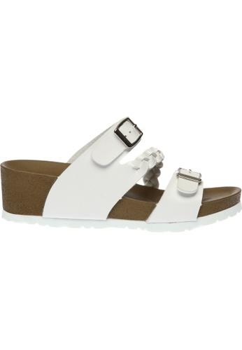 paperplanes white SNRD-225 Casual Summer 2-Belts Wedge Slippers Sandals Shoes US Women Size PA355SH82QOFSG_1