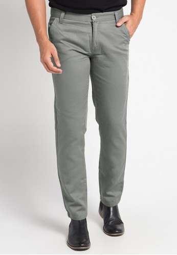 Tolliver grey Mens Chinos Pants 95469AAA108EB1GS_1