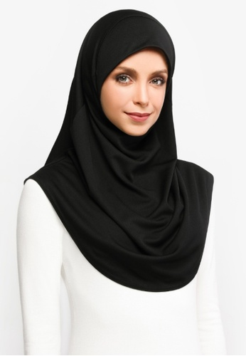 ZAAHARA black Z-Active Sports Hijab E683EAA410A58FGS_1
