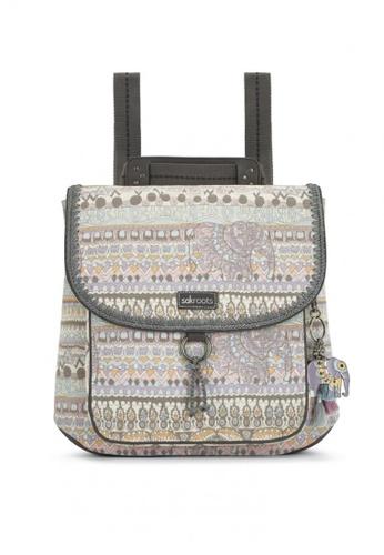 Sakroots grey Convertible Backpack 484CFAC4EA1691GS_1