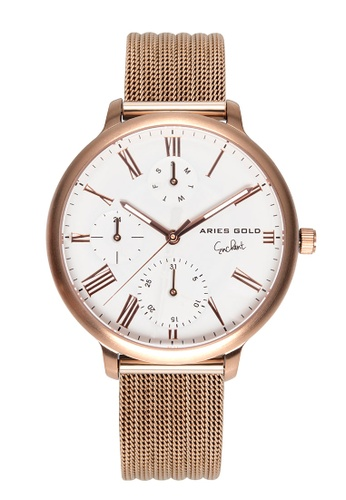 Aries Gold gold Aries Gold Voyage L 5034 Rose Gold Watch 37B65AC6D3E5EEGS_1