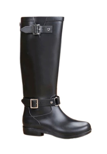 Twenty Eight Shoes black Zipper Long riding Rain Boot VR82 DB38CSH3E0850BGS_1