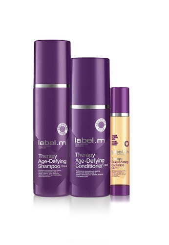 label.m purple Therapy Age-Defying Shampoo 200ml and Conditioner 150ml Free Rejuvenating Radiance Oil 100ml LA590BE24KHVSG_1