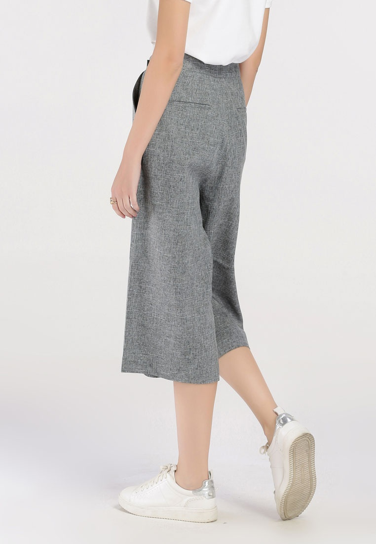 Fit Overlapping Pants Mid Hopeshow Thigh Loose Gray awqURU
