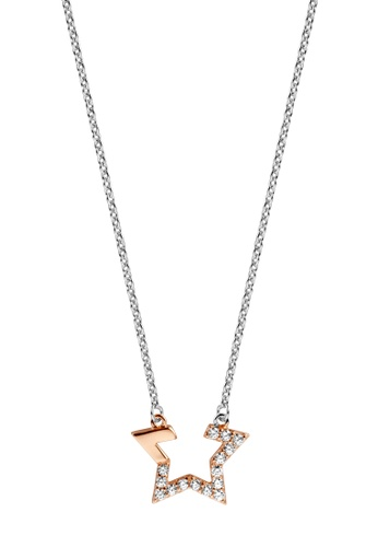 ESPRIT gold ESPRIT [Vivid Star] Two-Tone Silver & RoseGold Sterling Silver Necklace (42 cm + 3 cm extension) A44C4AC80A9005GS_1