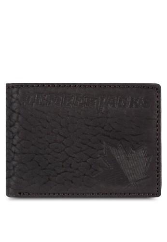 Lumberjacks 暗紋對折皮esprit專櫃夾, 飾品配件, 皮革