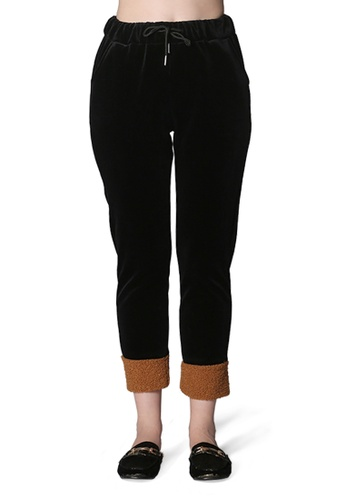 dd1aab03d9b9 Buy London Rag Black and Camel Loose Casual Sweat Pants Online on ...